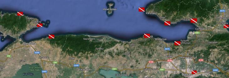Marmara'da Günübirlik Dalışlar